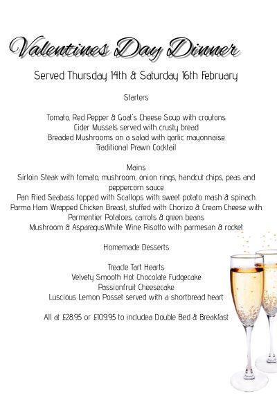 St. Valentine's Dinner at 'The Bull's Head'.